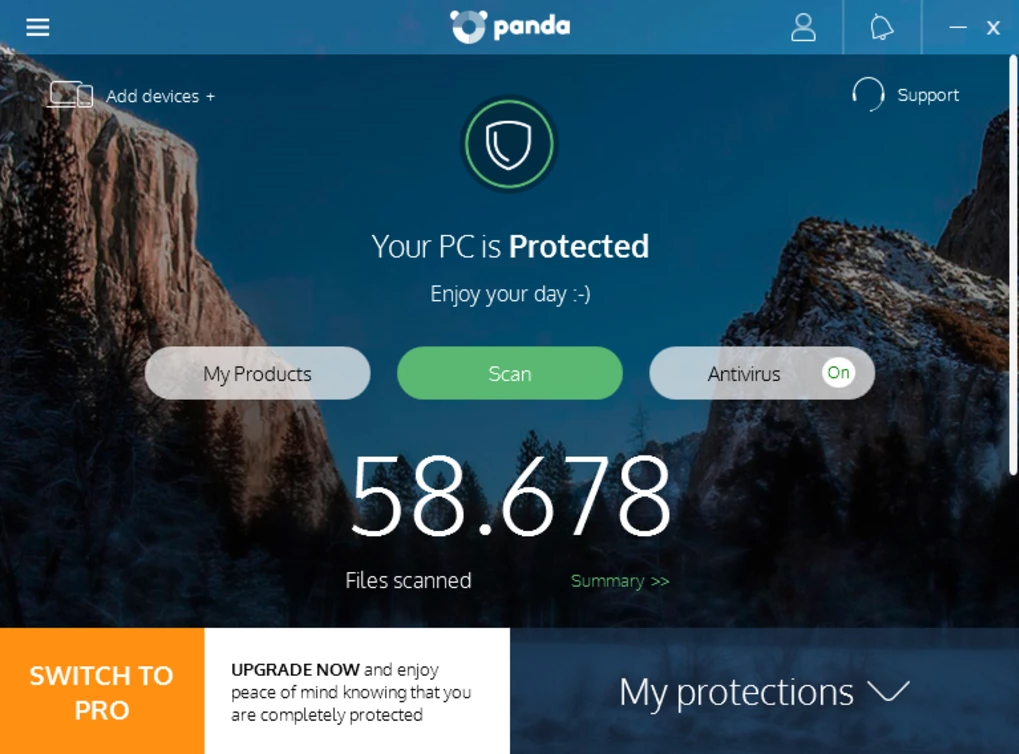 Panda Antivirus Interface